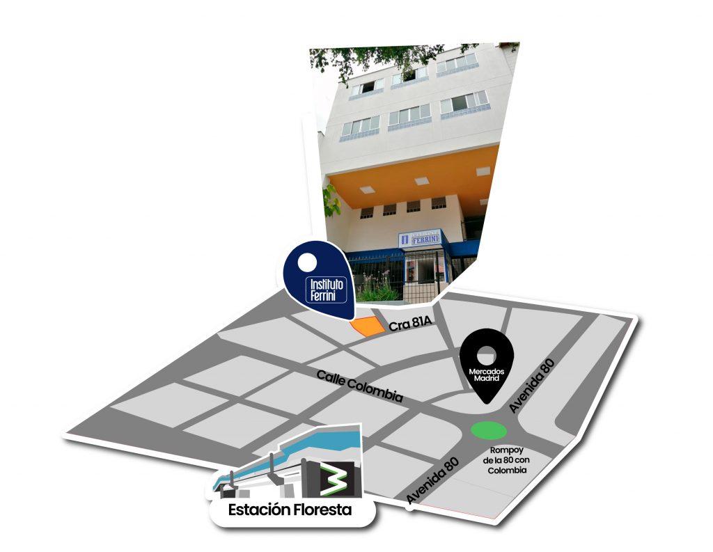 Como llegar a la sede del Instituto Ferrini sede Calasanz