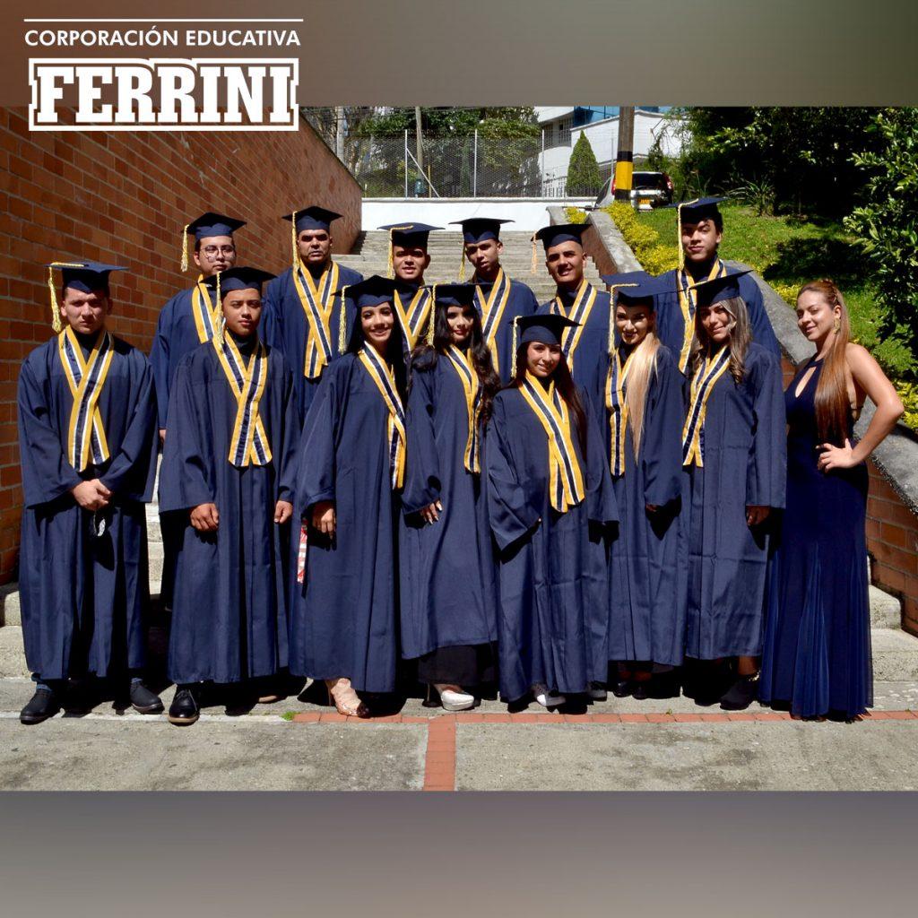 Ceremonia de grados Instituto Ferrini CORFERRINI Sede sabaneta Junio del 2021